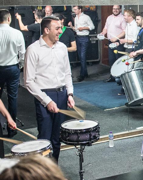 Brazilian drum workshop in session