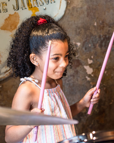 Drum lessons for children at ELDS